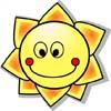 Soleil smiley sourire petit