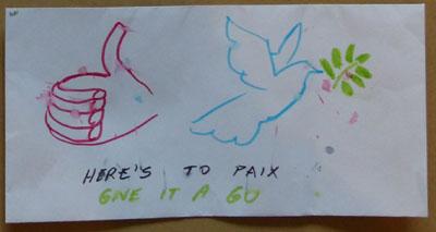 Atelier sur la paix jeux coach - Dessin sur la paix ...